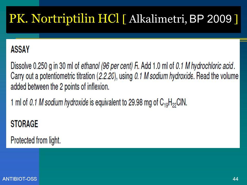 PK. Nortriptilin HCl [ Alkalimetri, BP 2009 ]